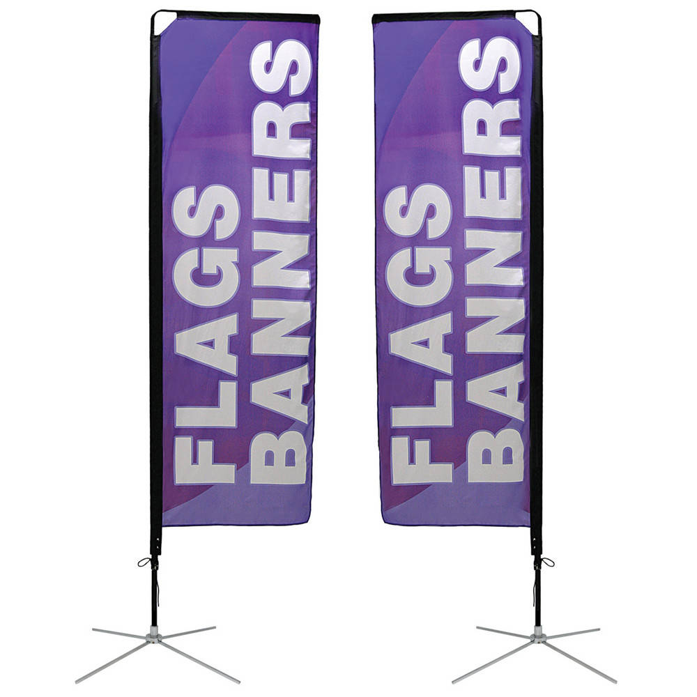 Rectangle Outdoor Advertising Flag Banner Stand | Banner Express